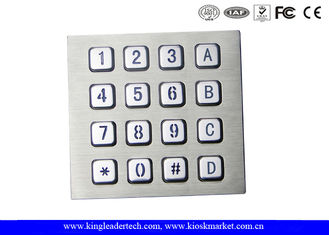 Machine Use Industrial Keyboard Door Access Keypad with 16 Keys Layout Costomizable