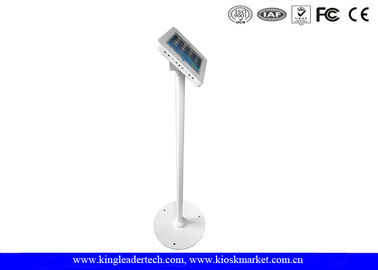 Rugged Vandal Proof floor tablet stand with Secure Key Locking for Displaying