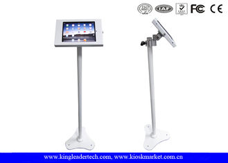 Ipad Security Kiosk Enclosure With Height Adjustable Rotatable Bracket For Floor Stand