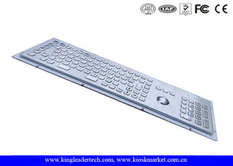 Industrial Kiosk Computer Metal Keyboard With Panel Mount Function Keys
