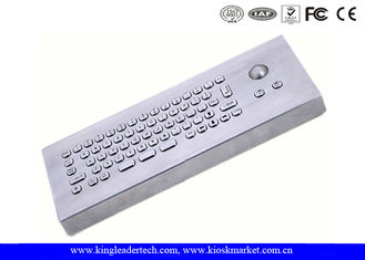 IP65 Small Foot-Print Industrial Desktop Keyboard With Mini 25mm Diameter Trackball